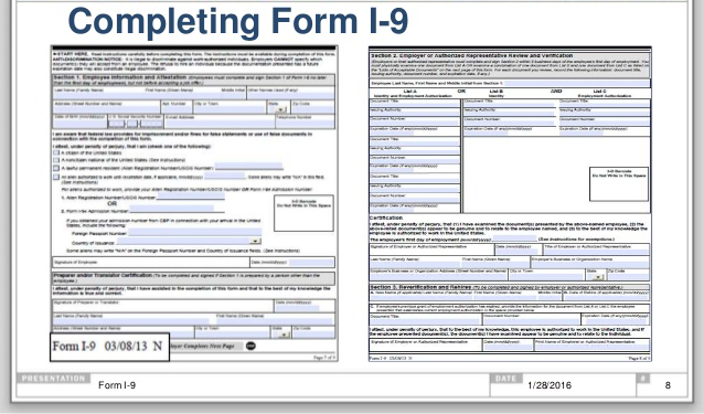 Completing the New Form I-9 | Software Techniques