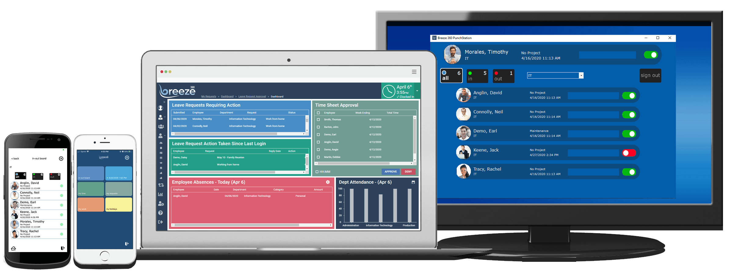 Breeze 360 Time and Attendance Software